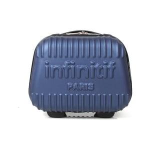 Modrý kosmetický kufřík s potiskem INFINITIF Paris, 12l