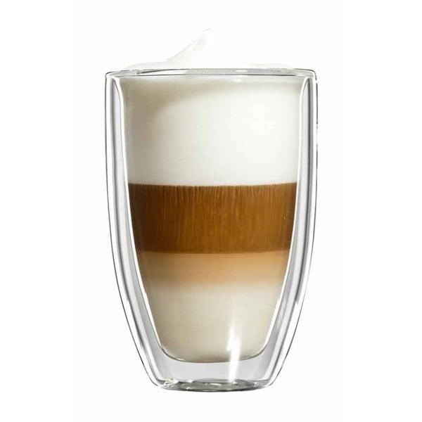 Sada 6 velkých skleněných hrnků na latte macchiato bloomix