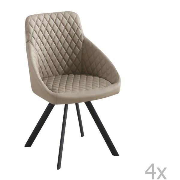 Sada 4 béžových židlí Tomasucci Tips