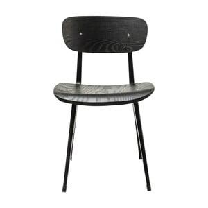 Černá židle z jasanového dřeva Kare Design Oslo