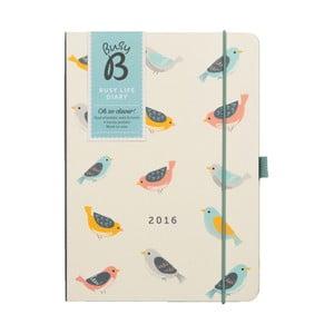 Diář Busy Life Birds 2016