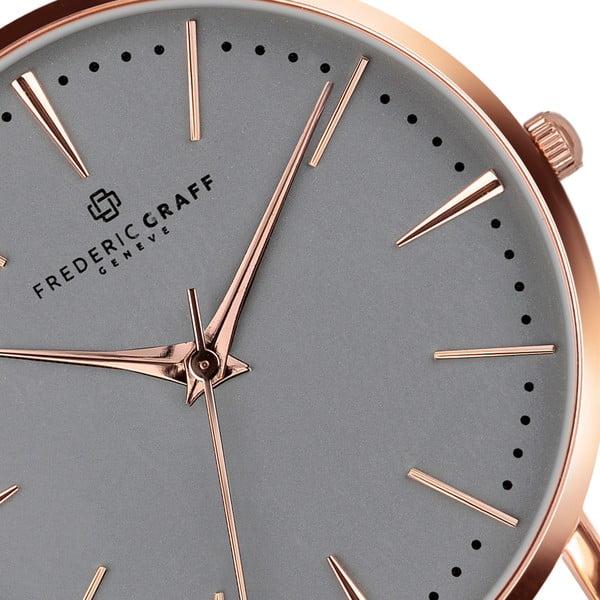 Dámské hodinky s páskem ve zlatorůžové barvě z nerezové oceli Frederic Graff Marissa