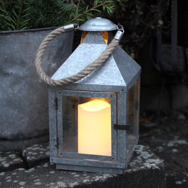 LED lucerna Amy, pozinkovaná