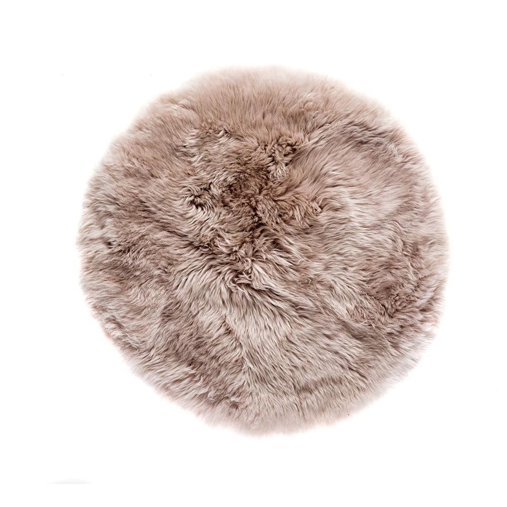 Světle hnědý koberec z ovčí kožešiny Royal Dream Zealand, ⌀ 70 cm