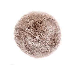 Světle hnědý z ovčí kožešiny koberec Royal Dream Zealand,Ø70cm