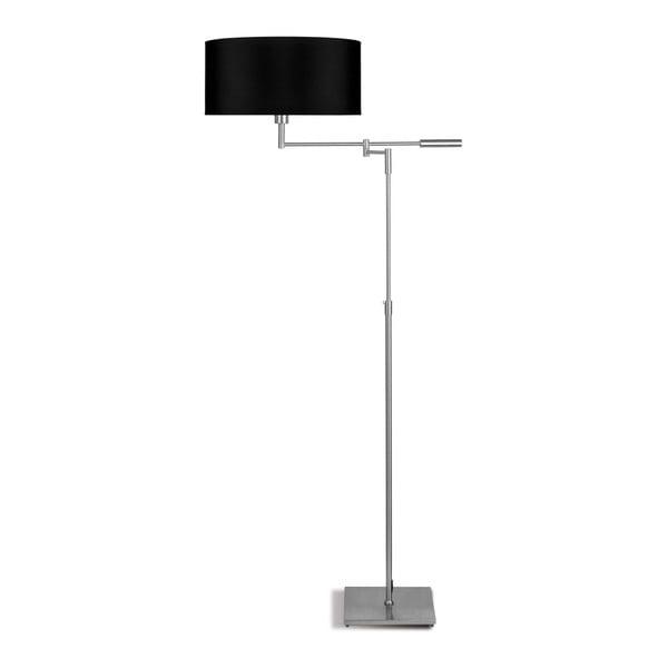 Šedá volně stojící lampa s černým stínidlem Citylights Berlin