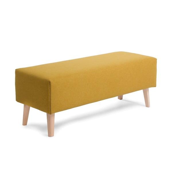 Żółta ławka La Forma Lydia
