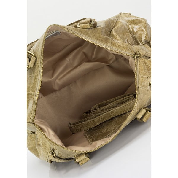 Kožená kabelka Kiara, taupe