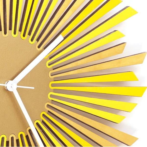 Dřevěné hodiny The Sun, 41 cm