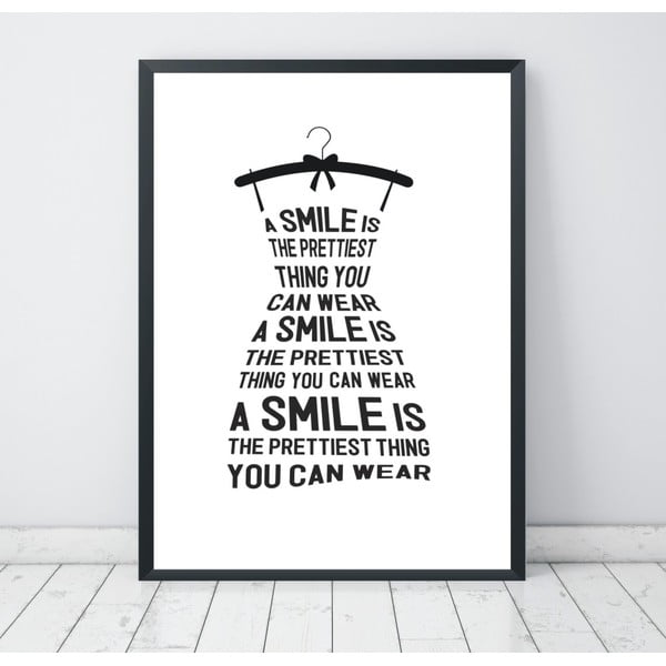 Poster Nord & Co Smile Is, 40 x 50 cm