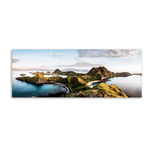 Canvas Komodo Views fali kép, 60 x 150 cm - Styler