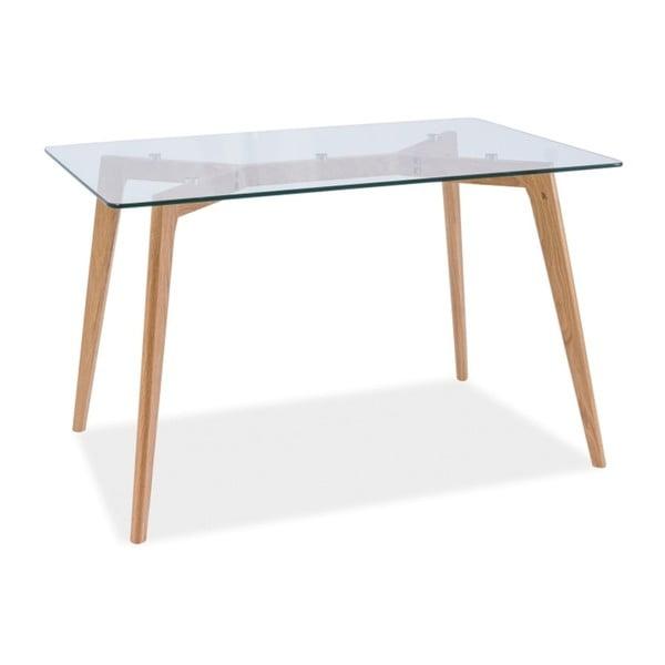 Jídelní stůl s deskou z tvrzeného skla Signal Oslo, délka120cm