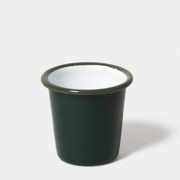Pahar smălțuit Falcon Enamelware, 124 ml, verde închis