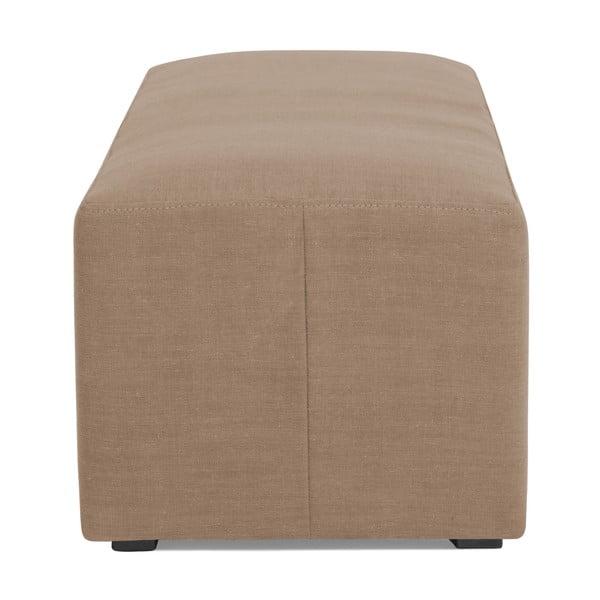 Puf ve velbloudí hnědé barvě Vivonita Grace Linen, 122x46cm