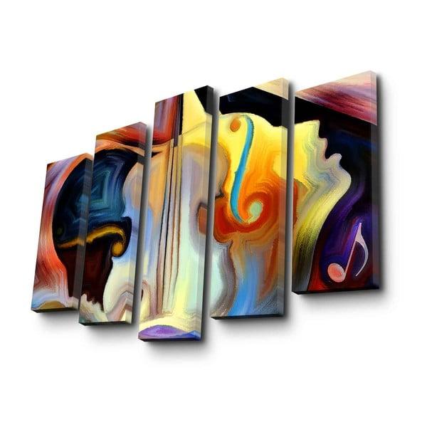Psychadelic 5 részes vászon fali kép