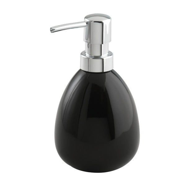 Czarny dozownik do mydła Wenko Polaris