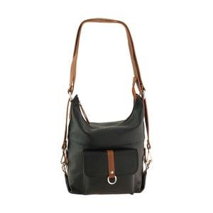 Černá kožená kabelka / batoh Tina Panicucci Lino