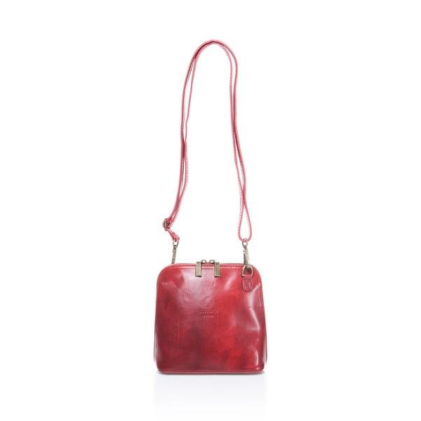 Červená kožená dámska kabelka Medici of Florence Francesca
