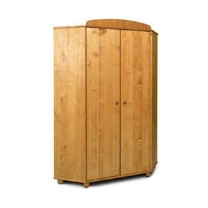 Dulap pe colț din lemn de pin Faktum Tomi