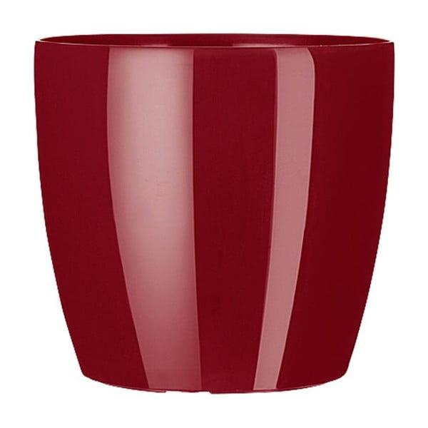 Vysoce odolný květináč Casa Brilliant 16 cm, rubínový
