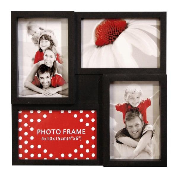 Sada čtyř rámečků Photo Frama, černá