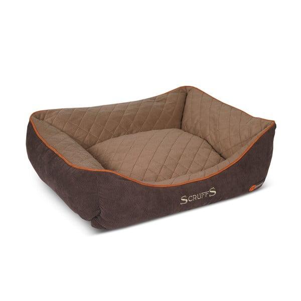 Psí pelíšek Thermal Bed 90x70 cm, hnědý