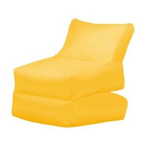 Žluté skládací lehátko Sit and Chill Lato