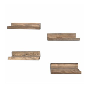 Set 4 rafturi din lemn pentru perete Arena