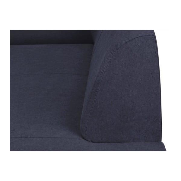 Canapea 3 locuri Kooko Home Piano, albastru închis