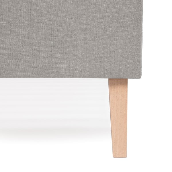 Světle šedá postel Vivonita Kent Linen, 200x140cm