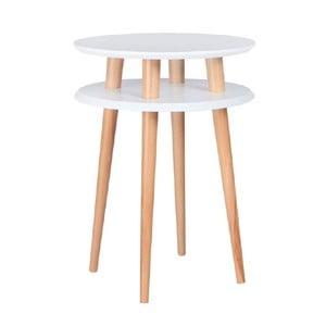 Bílý konferenční stolek Ragaba UFO,⌀45 cm