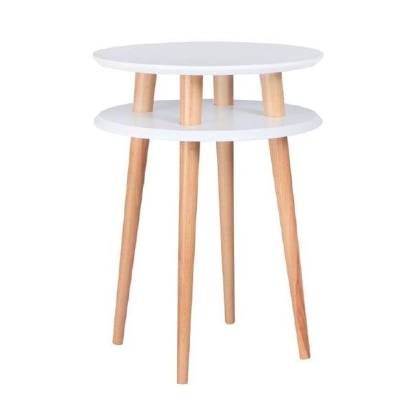 UFO fehér dohányzóasztal, ⌀ 45 cm - Ragaba