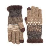 Hnědé rukavice Plan Snowman