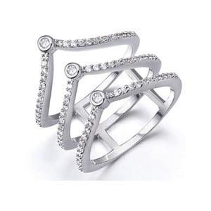 Prsten s bílými krystaly Swarovski Elements Crystals King, ø18mm