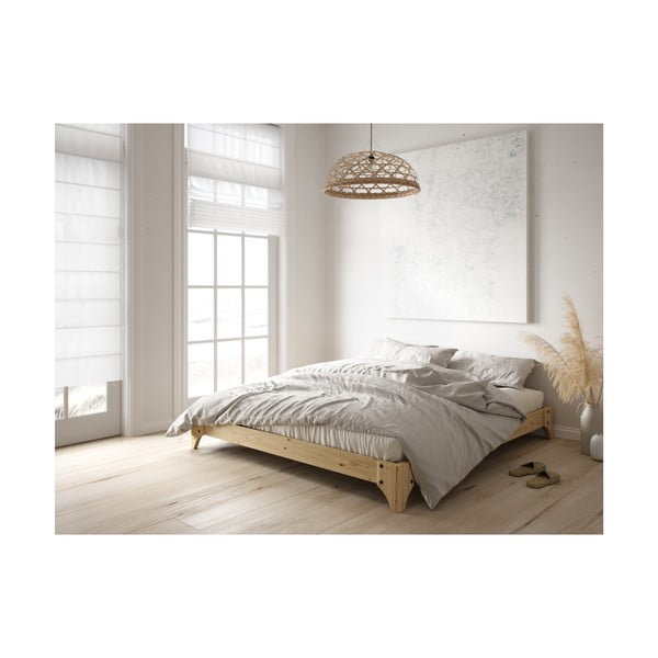 Černá postel z borovicového dřeva Karup Design Elan, 160 x 200 cm
