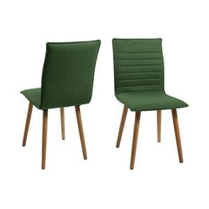 Set 2 scaune Actona Karla, verde