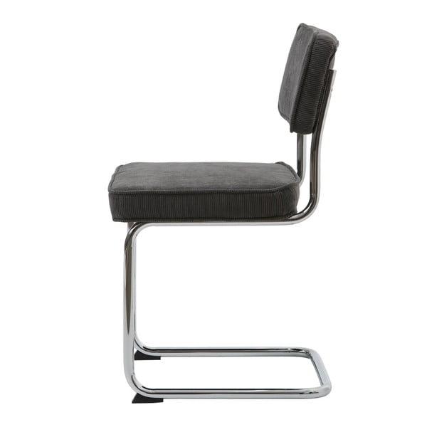 Antracitově šedá jídelní židle Unique Furniture Rupert Bauhaus