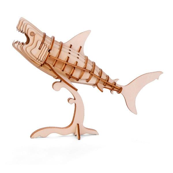 Shark 3D puzzle balsafából - Kikkerland