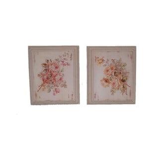 Sada 2 obrazů Antic Line Roses, 25,5x36,5cm