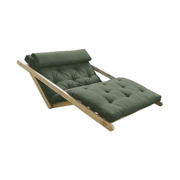 Dvoumístná variabilní lenoška Karup Design Figo Natural Clear/Olive Green