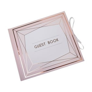 Carte de impresii pentru oaspeți Neviti Geo Blush