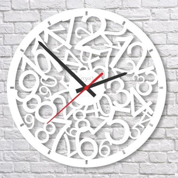 Nástěnné hodiny White Crazy