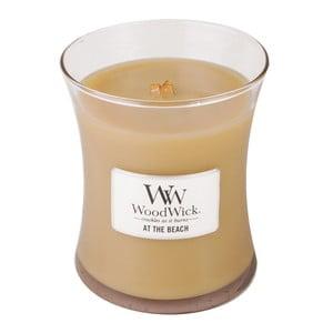Lumânare parfumată WoodWick, aromă tropicală de citrice și cocos, 60 ore