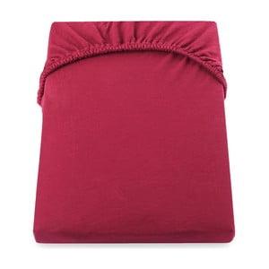 Cearșaf de pat cu elastic DecoKing Nephrite, 220–220 cm, roșu