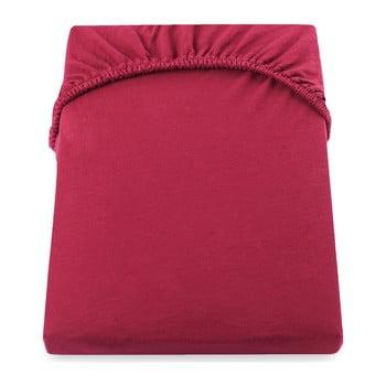 Cearșaf de pat cu elastic DecoKing Nephrite, 160–180 cm, roșu