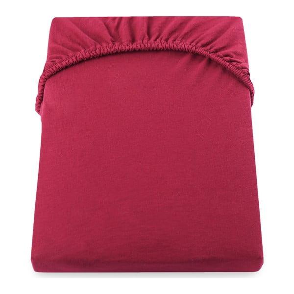 Cearșaf de pat cu elastic DecoKing Nephrite, 200–220 cm, roșu
