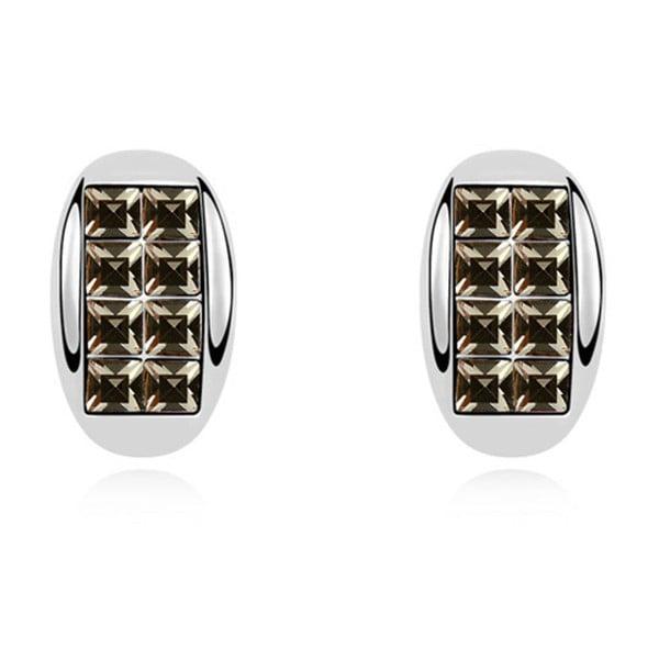 Ria fülbevaló fekete Swarovski kristályokkal és fehérarannyal