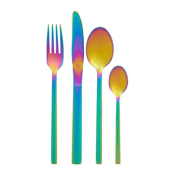 Rainbow szivárványos hatású étkészlet, 16 részes - Premier Housewares