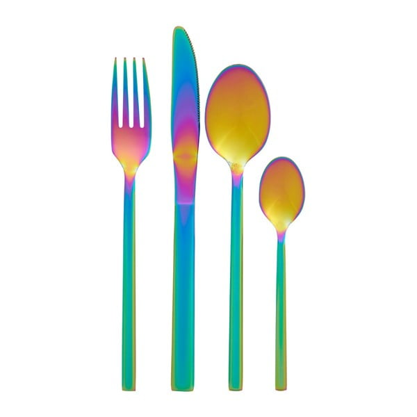 16dílná sada příborů s duhovým efektem Premier Housewares Rainbow