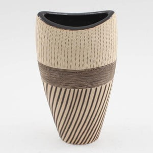 Keramická váza Brown Ocean, 27x14 cm